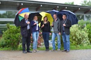 Die Kleinsachsenheimer Kandidaten und Kandidatinnen v.l. Siegfried Jauß, Bianca Castan, Celina Abdalla, Thomas Schwarz, Oliver Bonczkowski